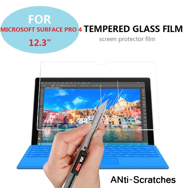"0.3mm 9H 2.5D Explosion-proof Tempered Glass film for MICROSOFT SURFACE PRO 4 12.3"" tablet Anti-shatter screen protector films"