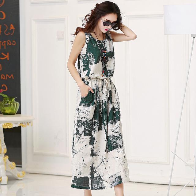 Linen Vintage Dress