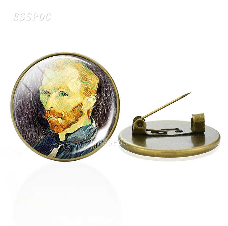 Van Gogh Thổ Cẩm Nghệ Thuật Đêm Đầy Sao Hoa Hướng Dương Thổ Cẩm Chân Nam Nữ Kính Cabochon Trang Sức Túi Đồng Thổ Cẩm Tặng Dropshipping