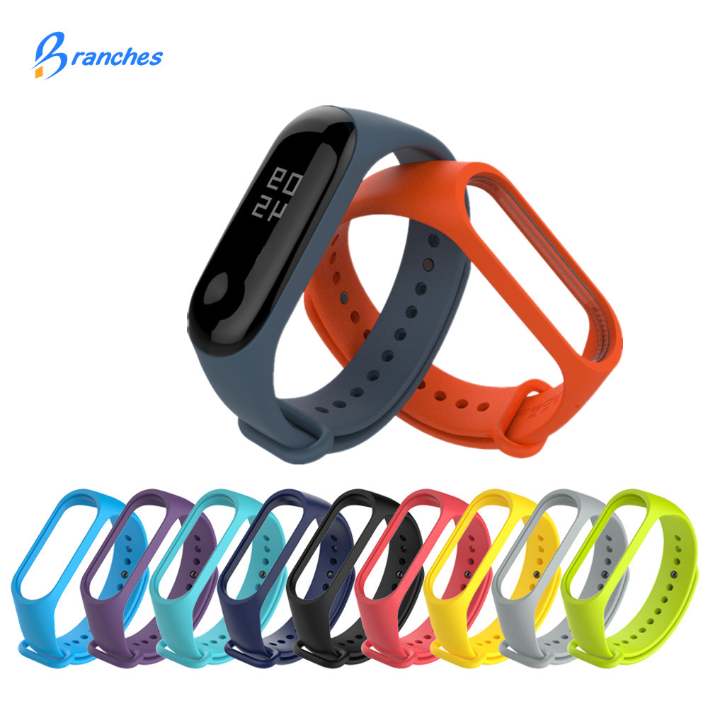 Colorful Bracelet For Xiaomi Mi Band 4 3 Bracelet Silicone Replacement Strap Mi Band 4 3 Bracelet Miband 4 3 Wrist Straps Band3