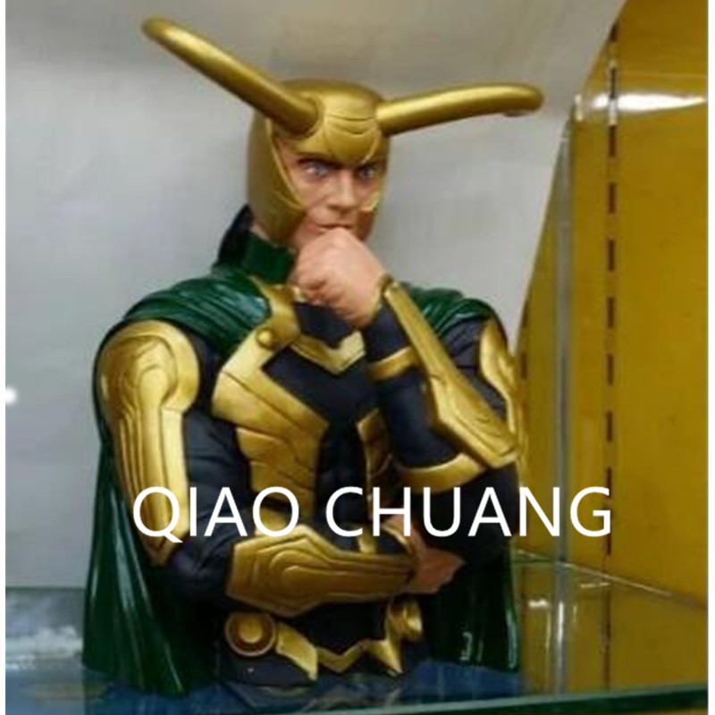 Avengers:Infinity War Supervillain Dark Magic Loki Laufeyson BUST Saving Box PVC Action Figure Model Toy G1183