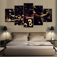 5 Panel Hd Liverpool Fc Print Canvas Art Wall Paintings For Living Room Wall Picture Custom
