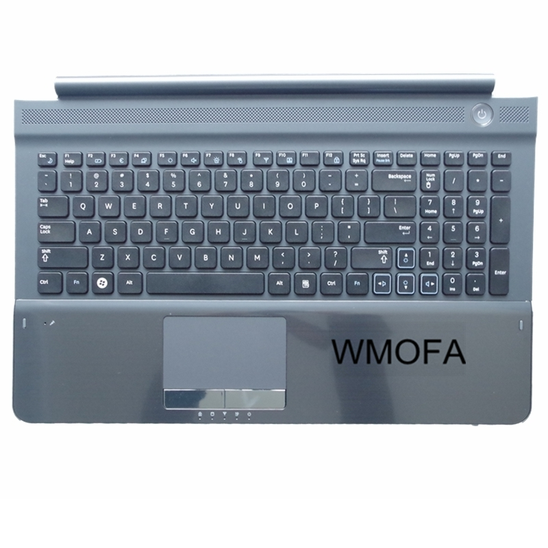 US NEW For SAMSUNG RC510 RC520 Replace laptop keyboard With Gray Frame touchpad and Speaker English us black new english replace laptop keyboard for dell latitude z600