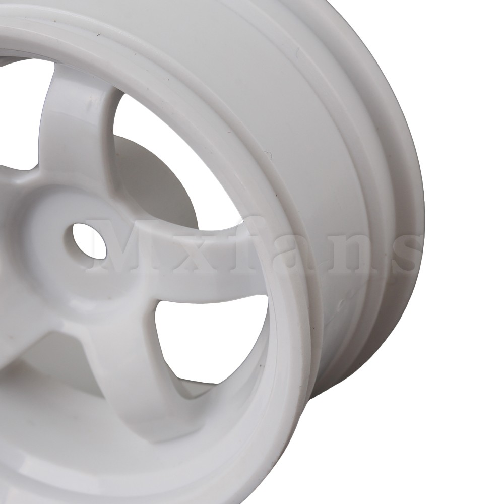 4pcs Plastic Wheel Rim for RC 1:10 On-road Racing Car /& Drift Car 52mm Dia