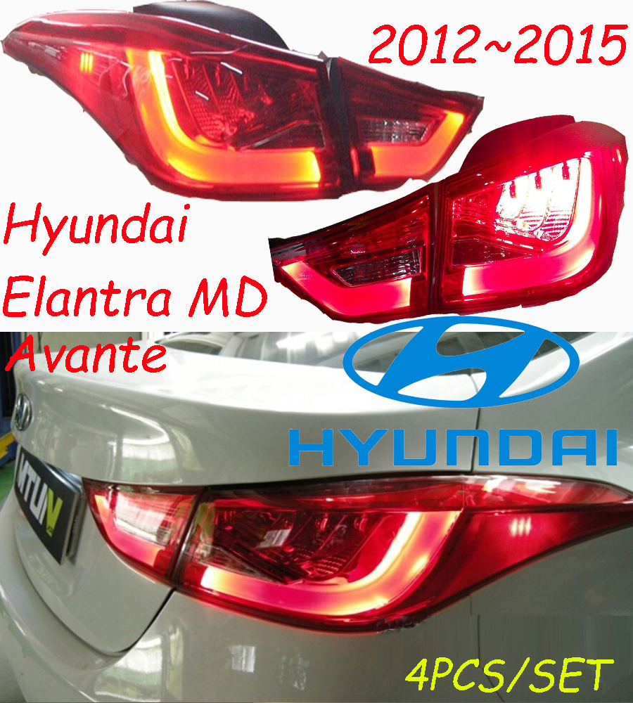 ФОТО Elantra taillight,MD Avante,2012~2015,Free ship!LED,4pcs/set,Elantra rear light,Elantra fog light;sonata,IX35