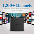 Android 6.0 Smart Set-top TV Box 4 K Quad Core con WIFI envío 3/6/12 Meses HD Iptv Canales de Pago Europa Caja del IPTV Árabe