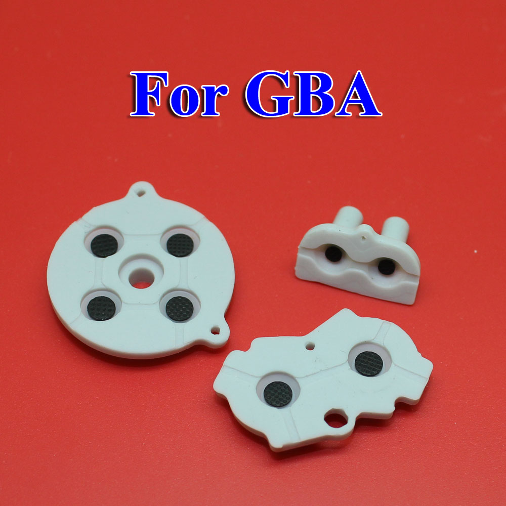 Image 5 - 30   100 sets New for GBA Rubber Conductive Adhesive Buttons pad for Game Boy Classic GBA Silicone Start Select Keypad-in Replacement Parts & Accessories from Consumer Electronics