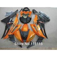 bodywork fairings set for YAMAHA R6 2008 2014 orange black full fairing kit YZF R6 08 09 14 #2180 Full injection