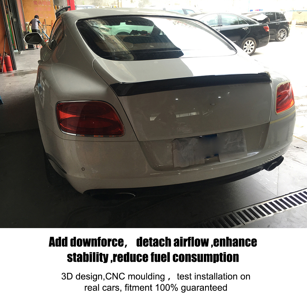 Carbon fiber Rear Trunk Spoiler case for Bentley Continental Coupe 2 Door Only 2012 2013 2014 GT V8 Supersports D Style-in Spoilers u0026 Wings from Automobiles ...  sc 1 st  AliExpress.com & Carbon fiber Rear Trunk Spoiler case for Bentley Continental Coupe 2 ...