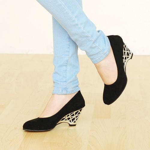 2016 spring women s shoes scrub surface single shoes wedge pumps metal round toe high heeled