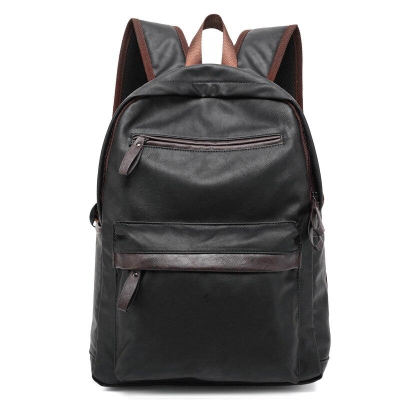 Amasie Loisirs sac à dos hommes style sac à dos en cuir Véritable sac en cuir voyage ordinateur camouflage sacs pour Les Adolescents EGT0116