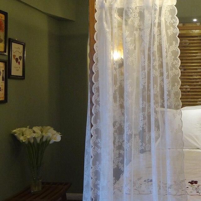 All'uncinetto tende di pizzo Pastorale Del modello di Fiore Del Crochet finestra