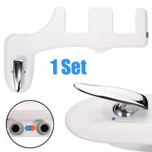 Hot /Cold Water Toilet Bidet Non-Electric Toilet Seat Attachment Self-Cleaning Set Shattaf Washing Supplies все цены