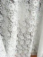 Blanco stretch Encaje Telas, elástico Encaje Telas, bordado floral retro Encaje, por la yarda