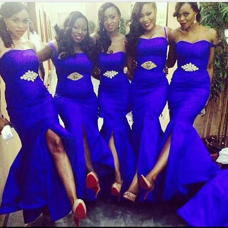 Magnífico Reales Vestidos De Dama De Honor Azul Baratas ...