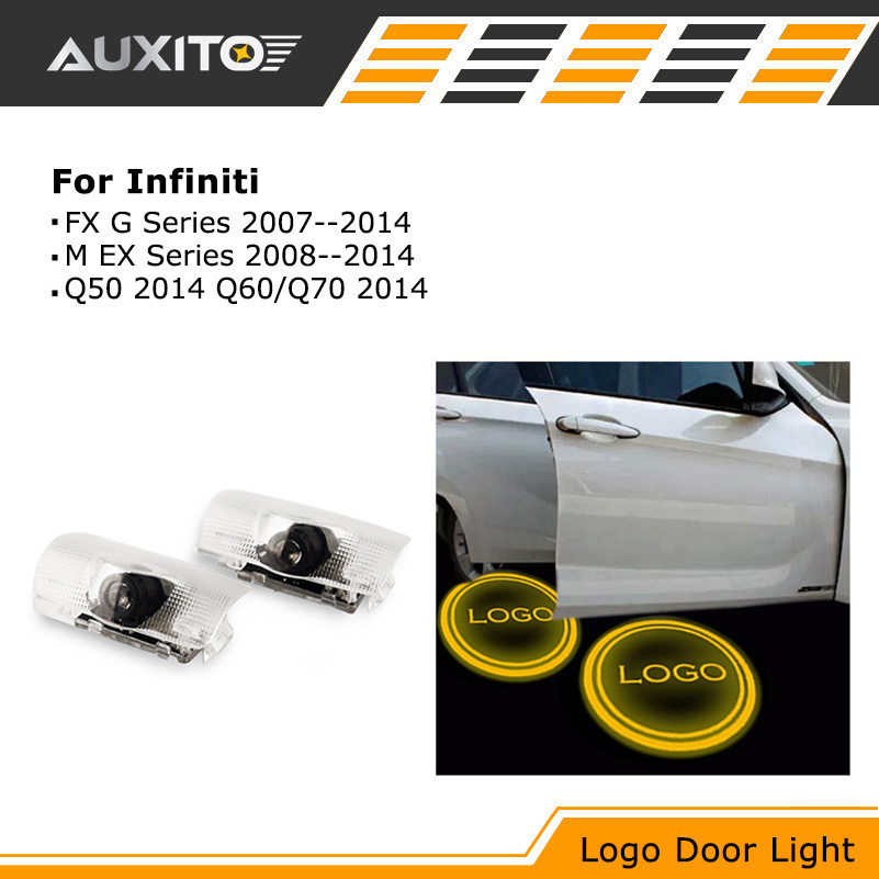 LED Car Door Logo Ghost Shadow projector Light For Infiniti FX35 fx37 g37 qx50 qx70 qx80 q60 q70 ex35 q50 f50 g35