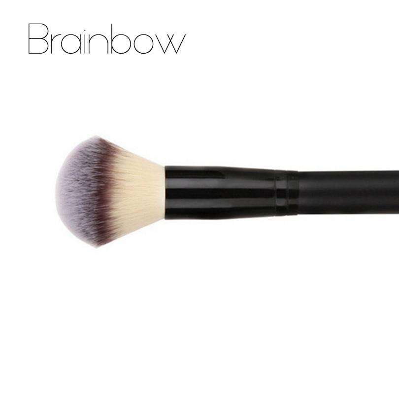Brainbow 1pc makeup brush powder blush brush 3 colors nylon hair cosmetics makeup brushes foundation make