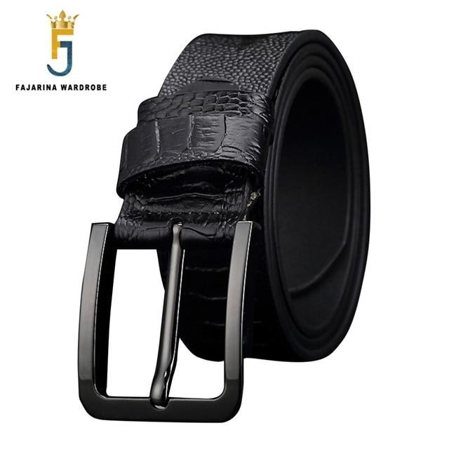 FAJARINA Buena Calidad Patrón de Cocodrilo Broche de Hebilla de Cinturón de  Estilo Retro Jeans Para 9ec5c522e67d