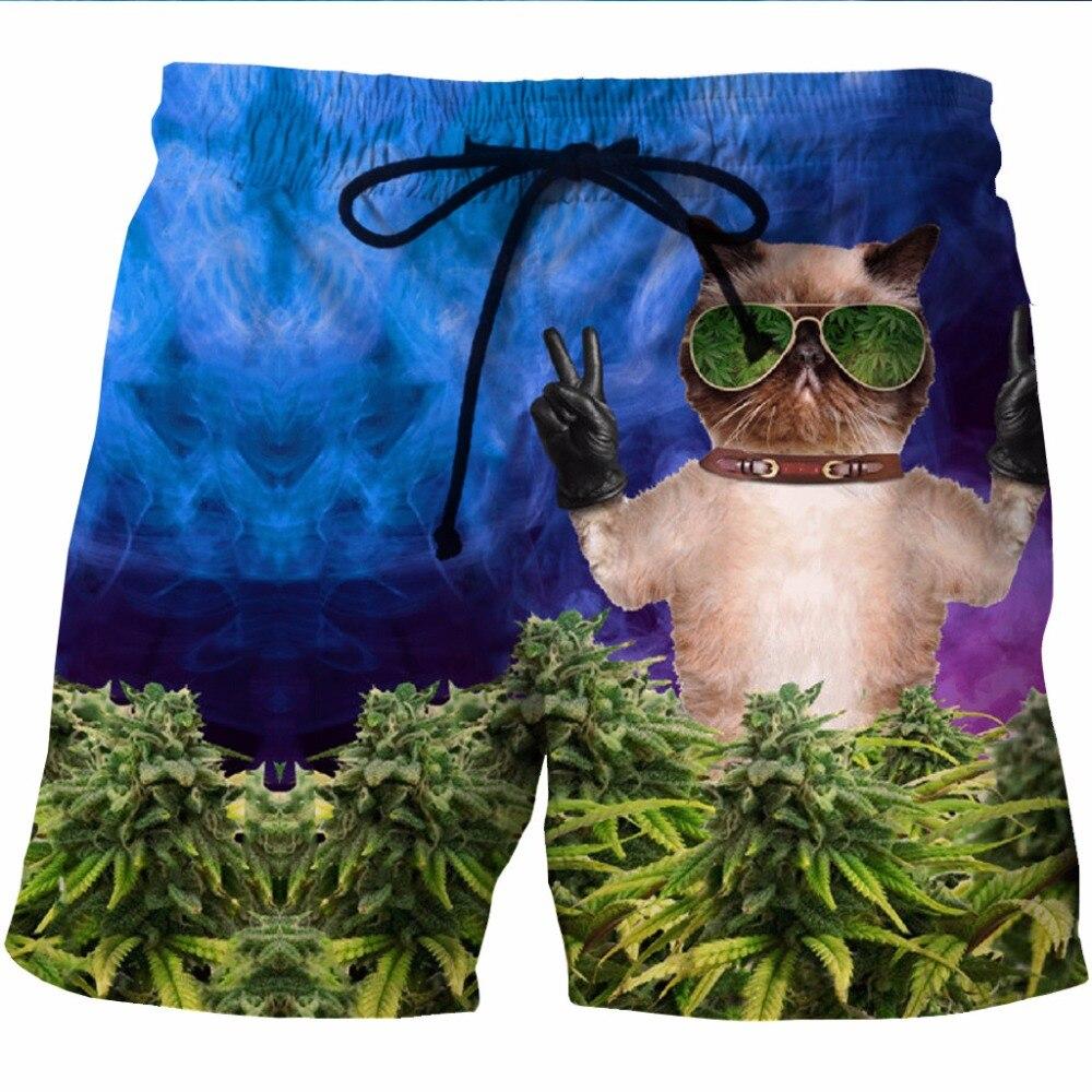 Men's 3D   Board     Shorts   Swimwear Beach Boxer Trunks 2018 Funny Cat Print Men Summer Boardshorts Quick Drying Casual   Shorts