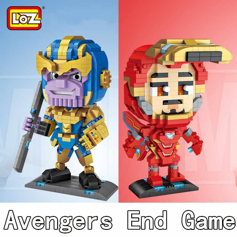 LOZ Blocks Super Heroes Marvel Iron Man Captain America Avengers Eng Game Diamond Building Blocks Incompatible Building DIY Toys