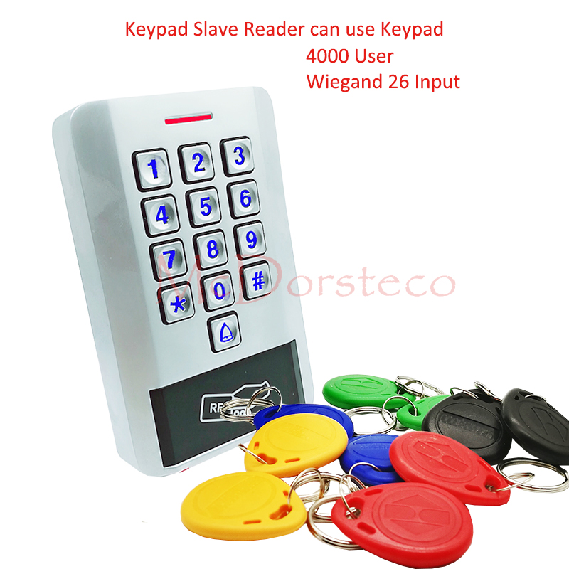 New Metal Rfid Access Control work with Wiegand 26 keypad slave reader Password Pin Door Access Controller wiegand 26 input