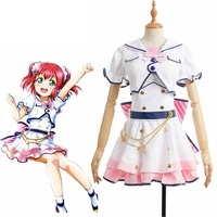 Anime LoveLive!Sunshine!!Aqours Ruby Kurosawa Cosplay Costume Love Live Sixth anniversary costume Halloween Party Dress Custom