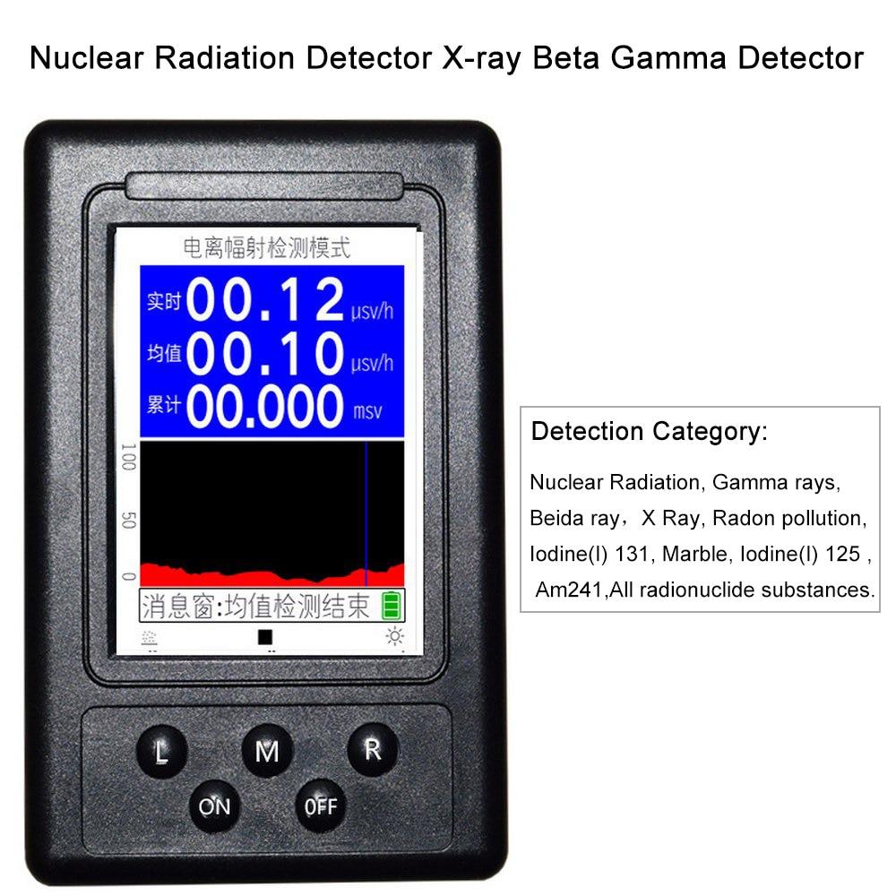 Nuclear Radiation Detector Geiger Counter X-ray Beta Gamma Detector High Sensitivity GM Tube 0.01usv/h Personal Dosimeter Nuclear Radiation Detector Geiger Counter X-ray Beta Gamma Detector High Sensitivity GM Tube 0.01usv/h Personal Dosimeter