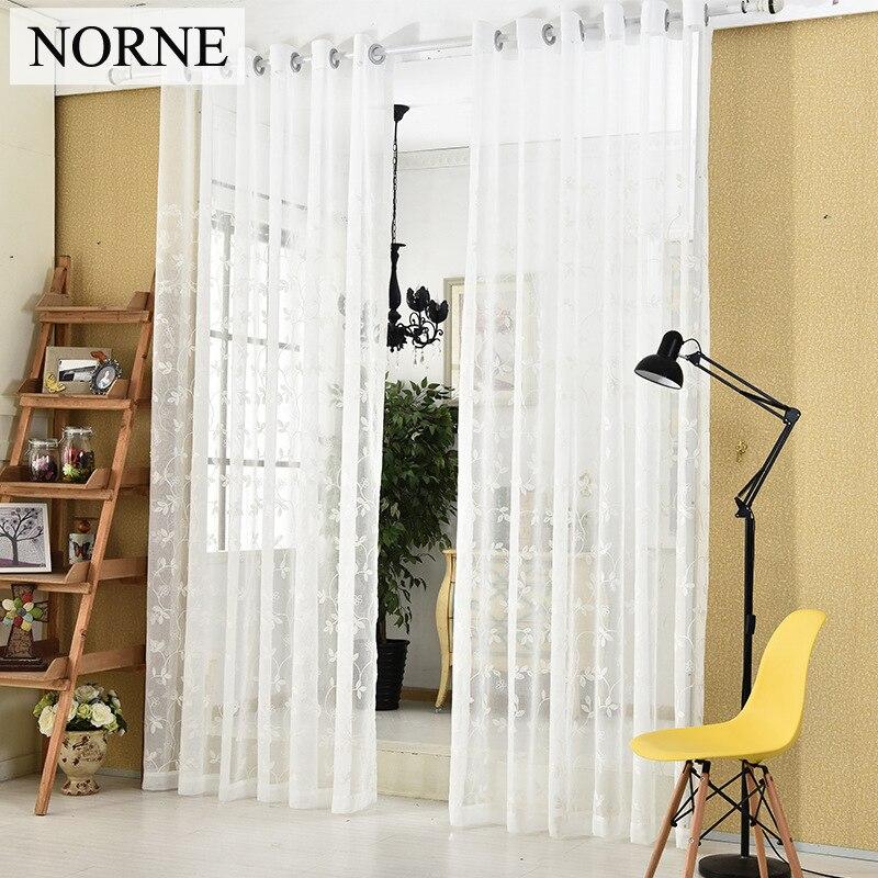 norne decorativos cortinas bordado semi blanco voile cortina de ventana cortinas de tul para puerta de la cocina s with cortinas de cocina para puerta y