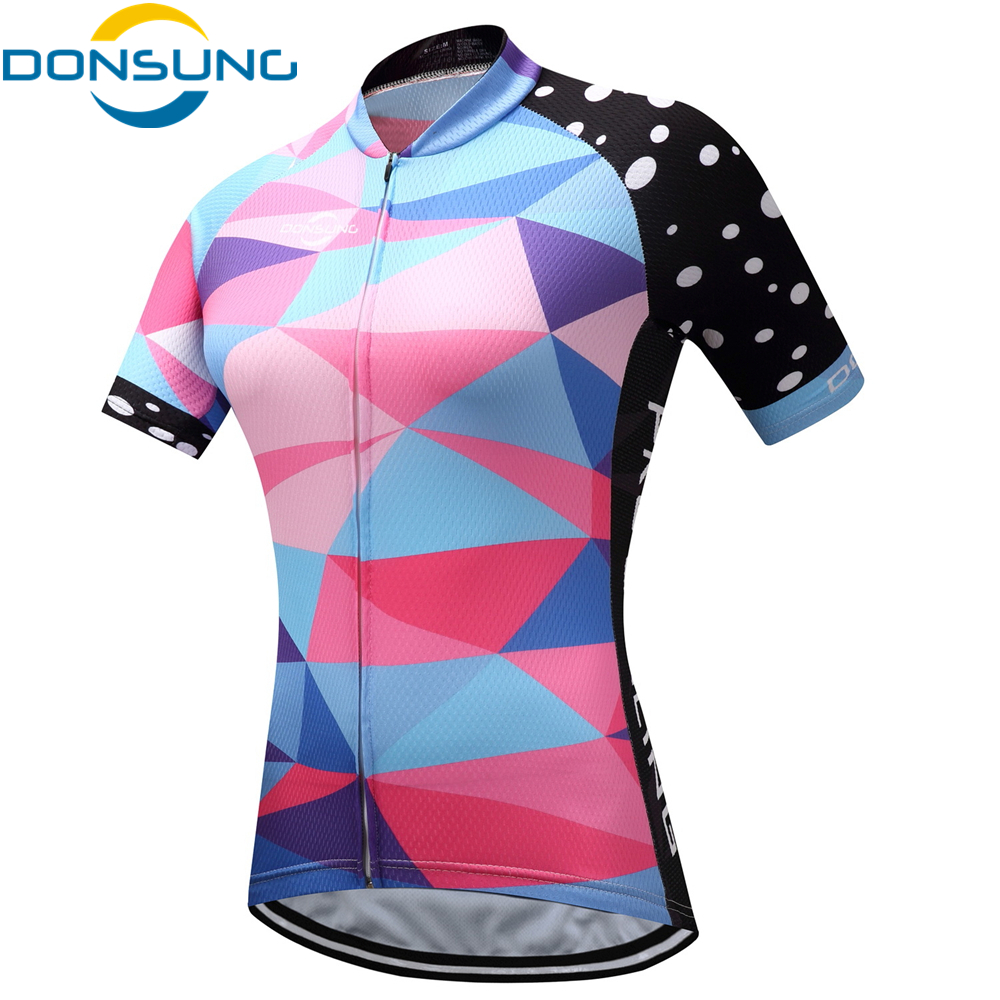 Outdoor Cycling Short Sleeve MTB Jersey Breathable Bike Clothing Ropa Ciclismo Comfortable Bicycle Shirt Women Cycling Jerseys 2017 spring summer cycling jersey women long sleeve mountain biking jerseys shirt outdoor sports clothing ropa ciclismo santic