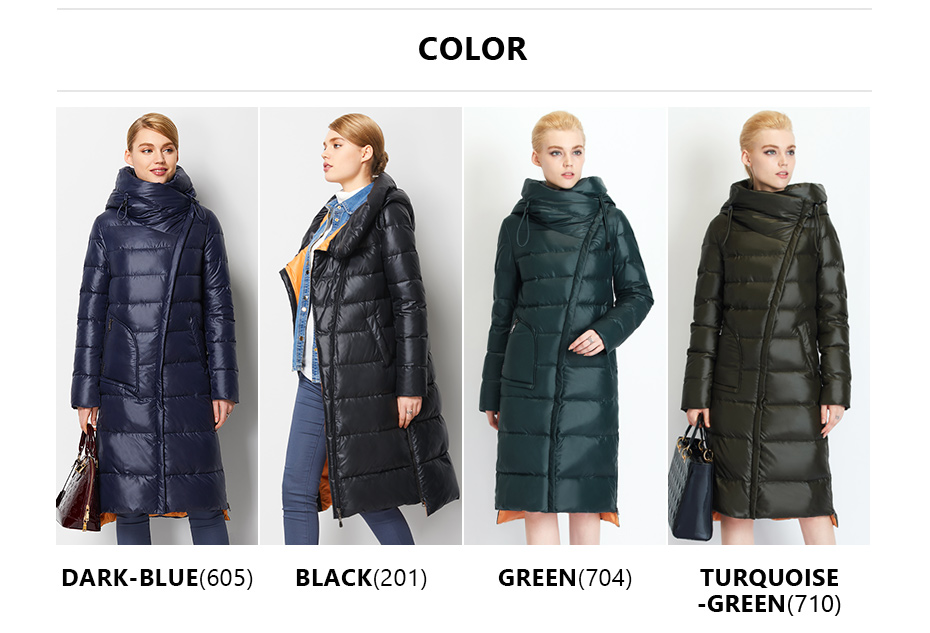 Fashionable Coat Jacket Women's Hooded Warm Parkas Bio Fluff Parka Coat High Quality Female New Winter Collection 14