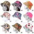 Бесплатная доставка! 2015 Новый 5 шт./лот Мода лето женщины Цветочный шляпа Beach Sun Cap рыбалка шляпы 18 Цветов Для выбрать