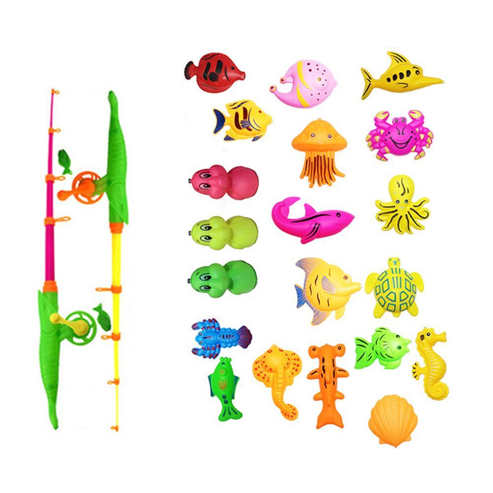 39 Stks/partij Met Opblaasbaar Zwembad Magnetische Vissen Speelgoed Staaf Netto Set Voor Kids Kind Model Spelen Vissen Games Outdoor Speelgoed
