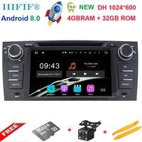 Восьмиядерный dvd плеер автомобиля Чистая Android 8.0 для BMW E90 E91 E92 E93 3 серии мультимедиа GPS Радио DVB ТВ BT WI FI заднего вида Камера