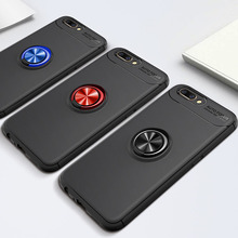 Phone Case For OPPO R11 Rotating Finger Ring Holder Matte Soft Silicone Back Cover Plus Coque