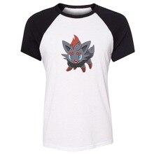 One Of A Kind Cartoon Pokemon Zorua Design Womens Ladies Printing T shirt Graphic Tee Short Cotton Tshirts