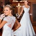 Vintage Gelinlik Bohemian Style Wedding Dresses Princesa Detachable Skirt Cap Sleeve 2015 Lace Bridal Gowns Vestido de Noivas