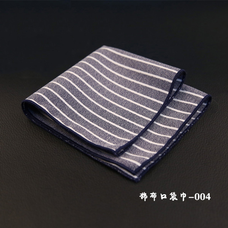 Mantieqingway Striped & Plaid Mens Handkerchiefs Brand Classic Cotton Pocket Towel Hanky Formal Business Suits Chest Towel Gifts