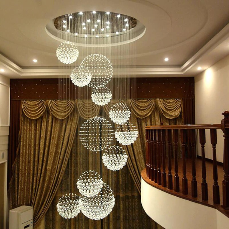 Us 628 85 51 Off Modern Luxury K9 Crystal Drop Chandelier Lighting Large Led Hanging Lights Cristal Lamps In Chandeliers From On
