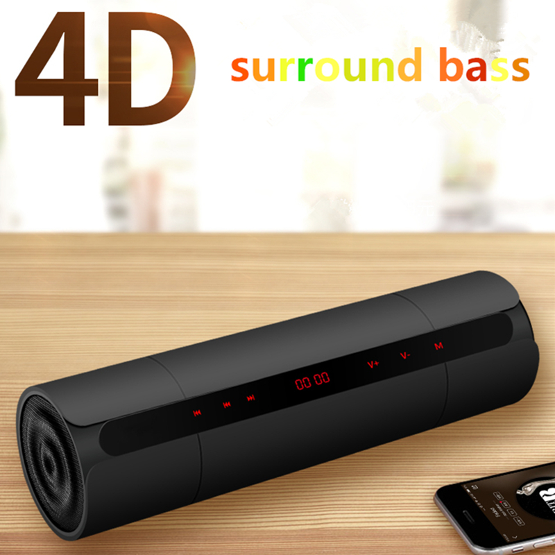 Portable Wireless Bluetooth4 0 Speaker Stereo Radio Music Subwoofer Column Speakers for Computer with TF FM