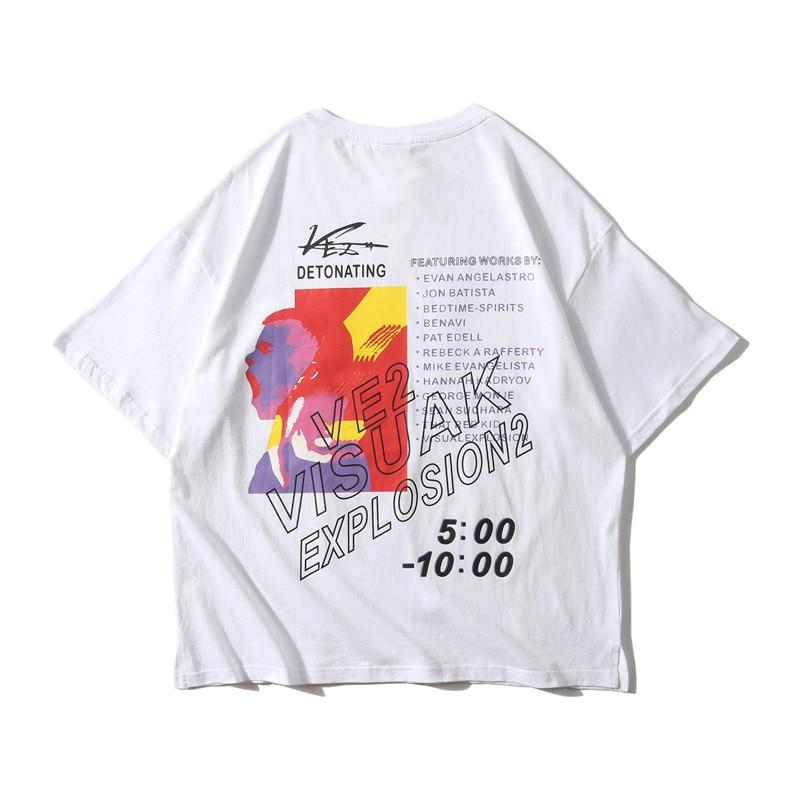 Dark Icon Side Split Fluorescent Green T-shirt with Messenger Bag Hiphop Tshirt Men Cotton Tee Shirts Streetwear Clothing 36