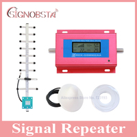 High quality LCD display cellphone gsm900 signal repeater mobile phone 2G gsm 900mhz signal booster for home amplifier red color