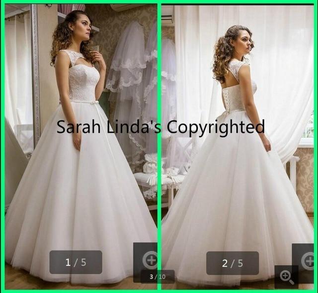 à Venda Modernos Vestidos De Casamento Do Pescoço Da Colher