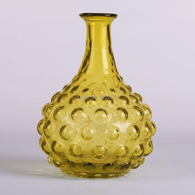 Glitzhome Handblown Round Hobnail Art Glass Vase 886 Inch In Vases