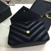 Роскошные Дизайнерские Сумочки из натуральной кожи классический для женщин сумка Мода 2019 г. одежда высшего качества цепи Falp леди сумки в по