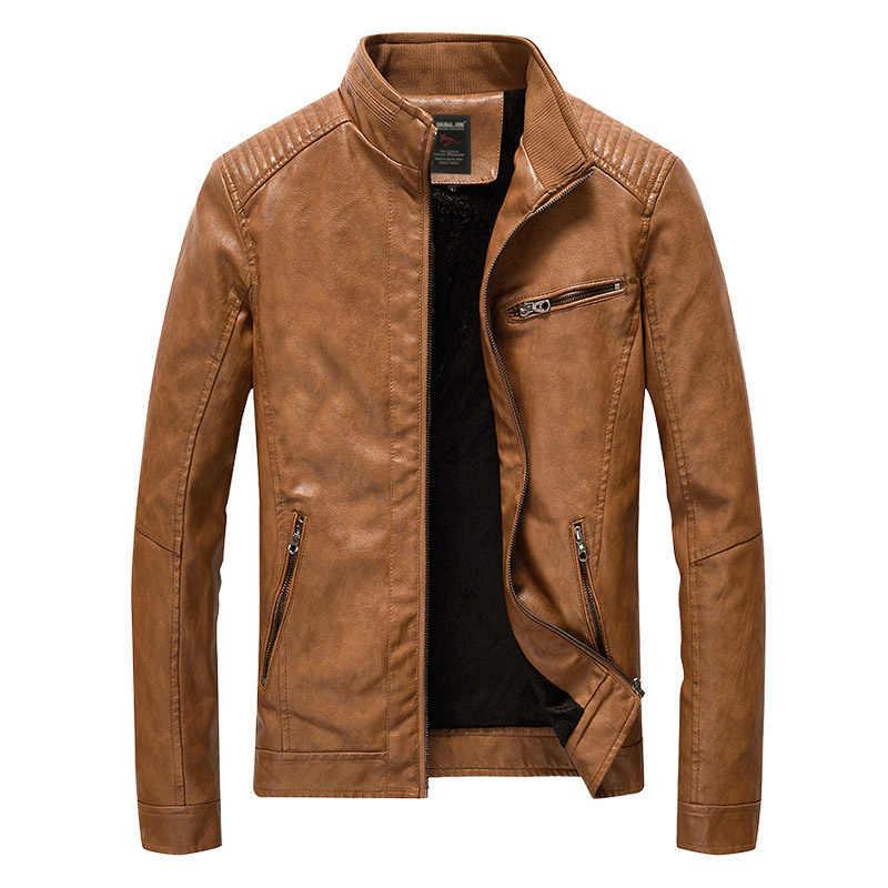 Бренд Босоножки из искусственной pu кожи Для мужчин Размеры 4XL 5XL Jaqueta De Couro Masculino промывают флис мотоцикл кожаной куртке мужской Повседневное пальто мотокуртка мужская