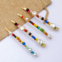 Ubuhle Colorful Acrylic Hair Pins Fashion Pearl Clips for Women Summer Beach Goliday Accessories Female Party Jewelry