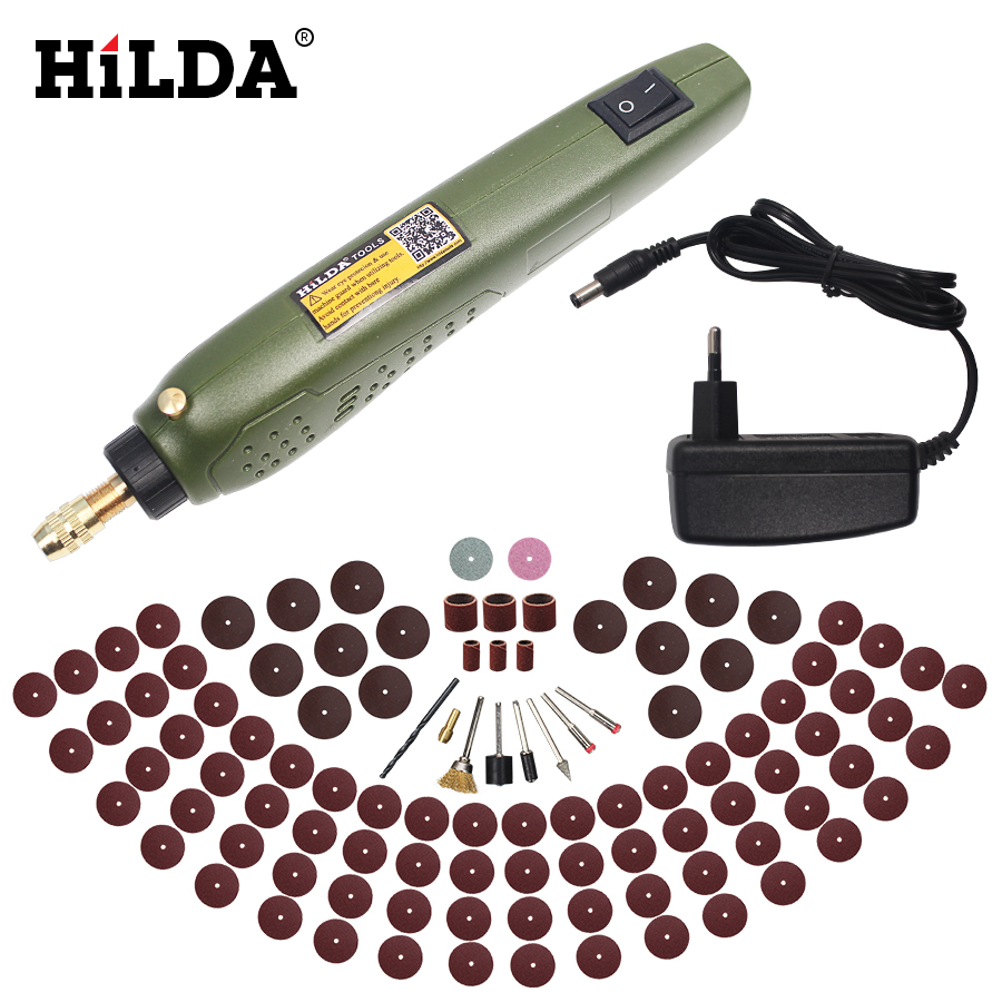 HILDA FOR Dremel Mini Electric Drill + Grinding Accessories Set Multifunction Engraving Machine Electric Tool kits Power Tools цены