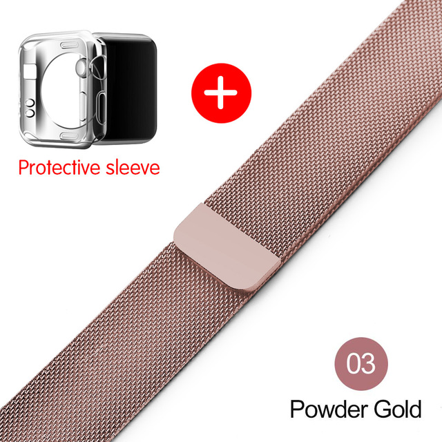 Milanese Loop For Apple Watch band strap 42mm/38mm iwatch4/3/2/1Stainless Steel Link Bracelet wrist watchband magnetic buckle 3