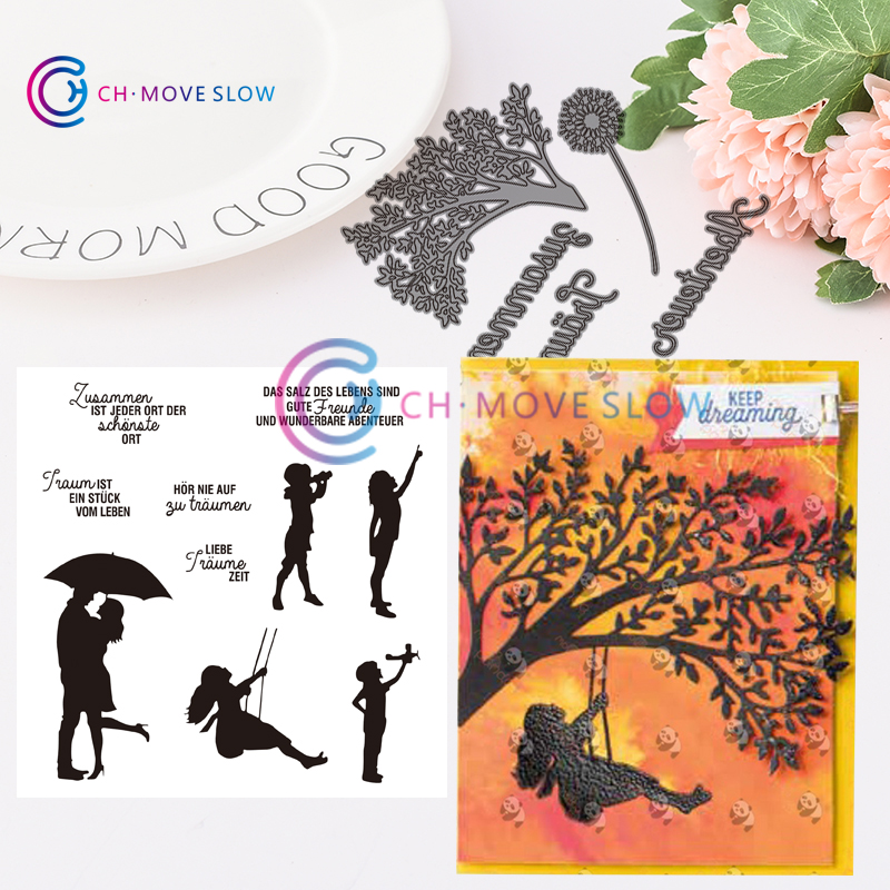 2019 CH Silhouette Scenes Stamps And Metal Cutting Dies