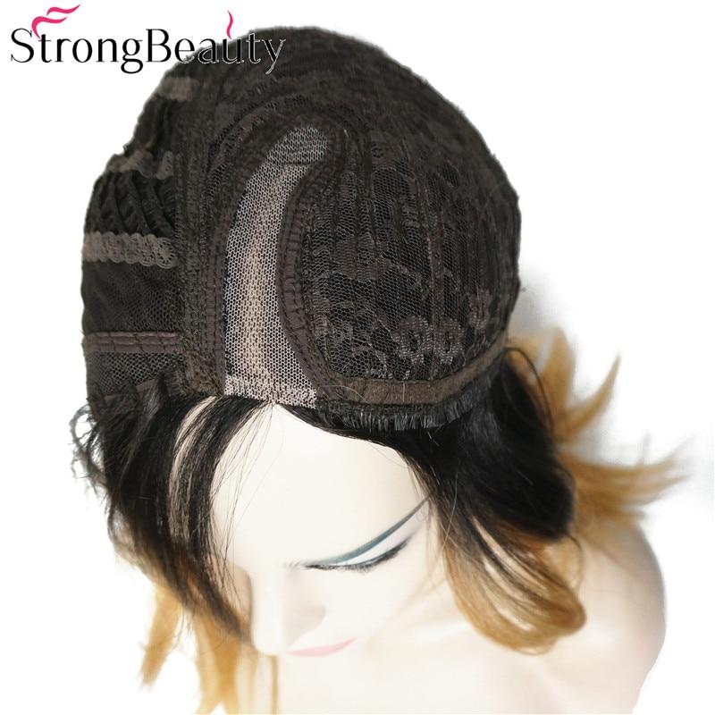 StrongBeauty Bob Lace Wig Συνθετικές Straight Ombre - Συνθετικά μαλλιά - Φωτογραφία 6